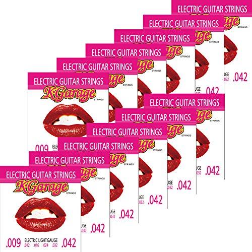 K-Garage エレキギター弦 Light E/G .009-.042 12セットパック 【199円~】安いエレキギター弦特集! 値段を気にせず常に新しい弦で練習できるおすすめ格安・激安弦!レビュー・感想【6弦、7弦、コーティング弦】