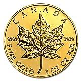 【メイプルリーフ金貨 純金 地金型 ゴールド コイン】 メイプル金貨 1オンス クリアケース入り カナダ王室造幣局発行 31.1gの純金 24金 ゴールド コイン (ランダム・イヤー) 保証書付き