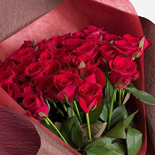 60本の真っ赤なバラの花束を還暦祝いにプレゼント