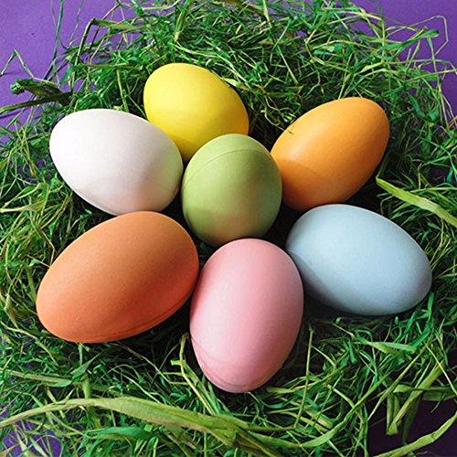 Orfilalily イースターエッグ お絵かき卵 子供手工芸 20個入り 色ランダム