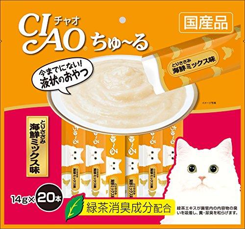 チャオ (CIAO) 猫用おやつ ちゅ~る とりささみ 海鮮ミックス味 14g×20本入