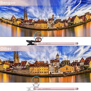 Bengooスマホ用カメラレンズ 238°超広角 魚眼2in1統合レンズ 高画質 カメラレンズキット クリップ式 0.36Xレンズ倍率 iPhone8 8plus iPhoneX/Android タブレットPCなど対応