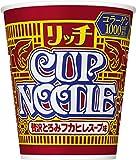 日清食品 カップヌードル リッチ 贅沢とろみフカヒレスープ味 78g×12個