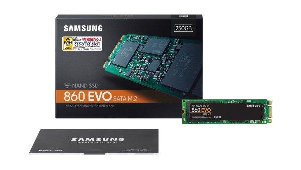 Samsung SSD 860 EVO M.2 パッケージ