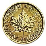 カナダ メイプルリーフ 5ドル金 ゴールド コイン 3.11グラム 24K 1/10オンス 純金 インゴット
