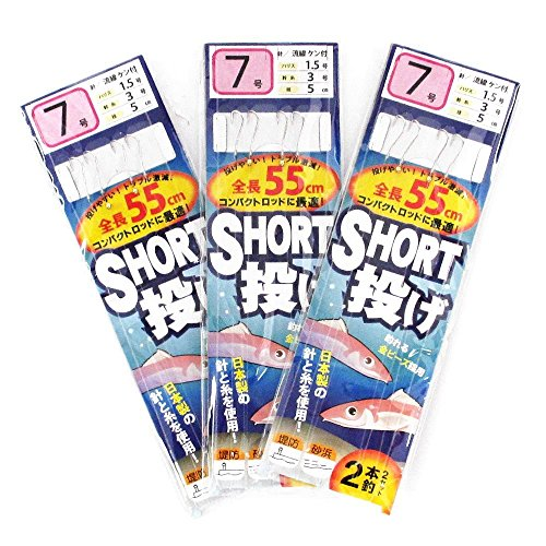 TAKAMIYA(タカミヤ) SmileShip ショート投げ 3枚セット 針7号-ハリス1.5号 TF16