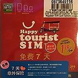 タイ定額データSIM Happy tourist SIM 4G/3G 赤 並行輸入品