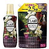 【まとめ買い】フレアフレグランス 柔軟剤 ヴェルベット&フラワーの香り 本体+詰め替え 1200ml