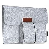 dodocool タブレット保護スリーブ タブレットMacBook 保護スリーブ マウス/パワーパック タブレット (12インチ)