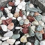 天然石 玉石砂利 3-4cm サンプル 五色砂利 (ガーデニングに最適 5色砂利)