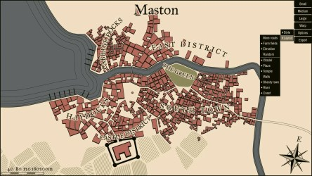 Random fantasy town map generator