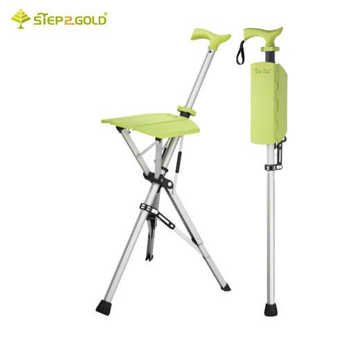 泰達椅-自動手杖椅/拐杖椅 萊姆綠