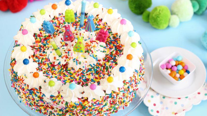 Vanilla Chex Sprinkle Cake Recipe Bettycrockercom