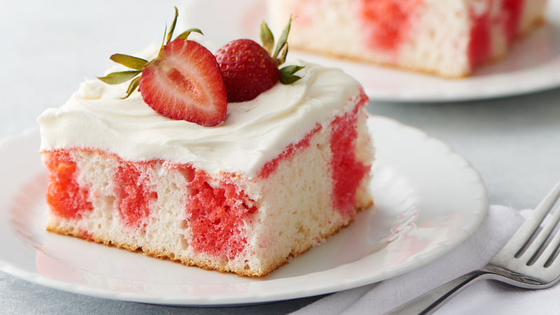 Strawberry Poke Cake Recipe Bettycrockercom