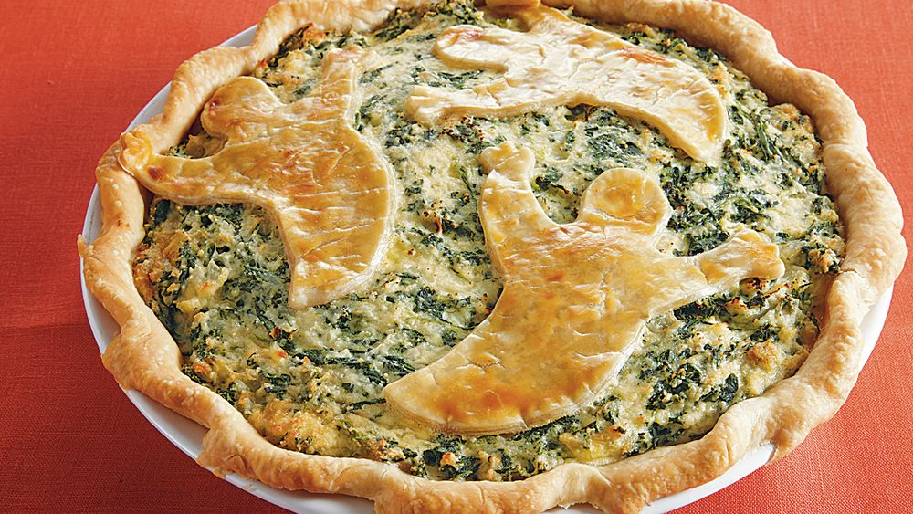 Spooky Spinach Pie Recipe From