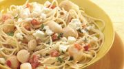 creamy scallops with angel hair