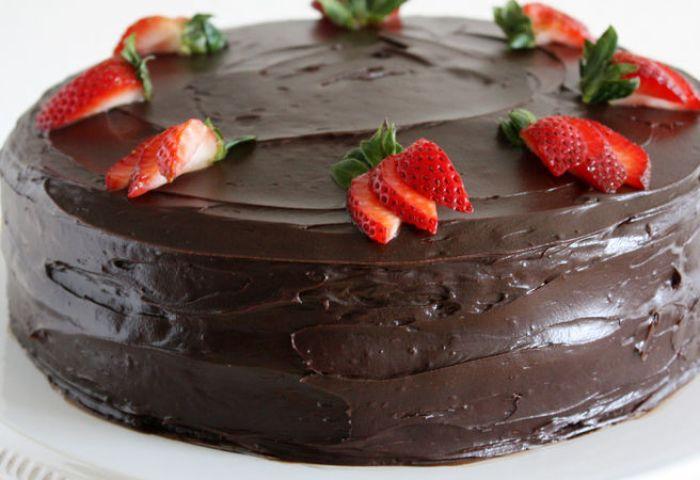 Dark Chocolate Covered Strawberry Cake Recipe Bettycrockercom
