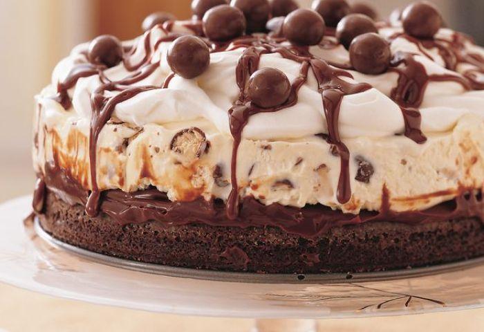 Chocolate Malt Ice Cream Cake Recipe Bettycrockercom