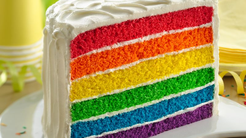 Rainbow Layer Cake Recipe Bettycrockercom