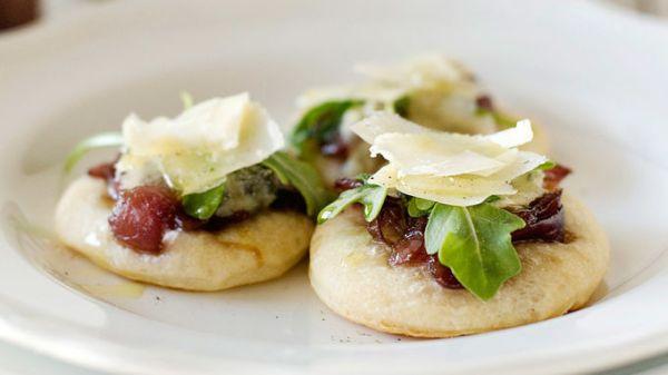 Mini Onion Jam Pizzas recipe from Tablespoon!