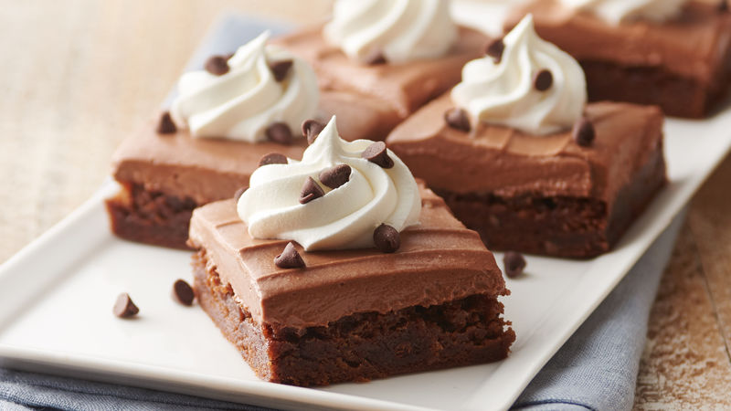 French Silk Brownies Recipe Bettycrocker Com