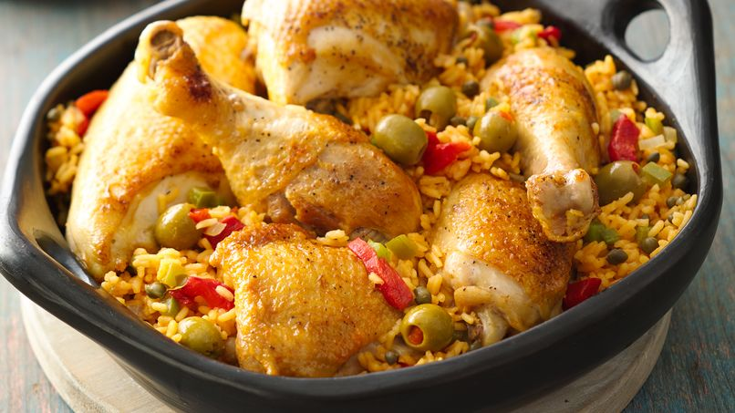 arroz con pollo puertorriqueno