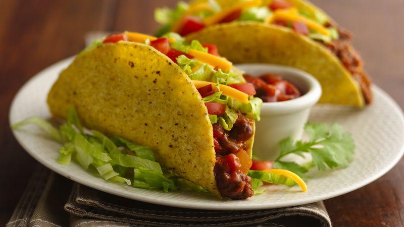 Easy Beef Tacos Recipe - BettyCrocker.com
