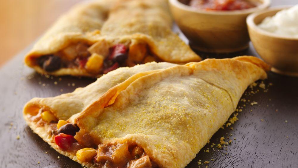 Chicken Empanada Cones Recipe From
