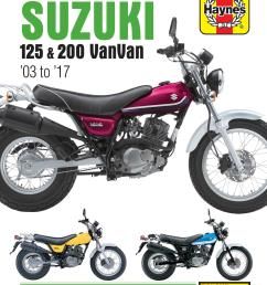 haynes suzuki rv 125 200 vanvan 03 17 service repair motorcycle manual [ 2582 x 3307 Pixel ]