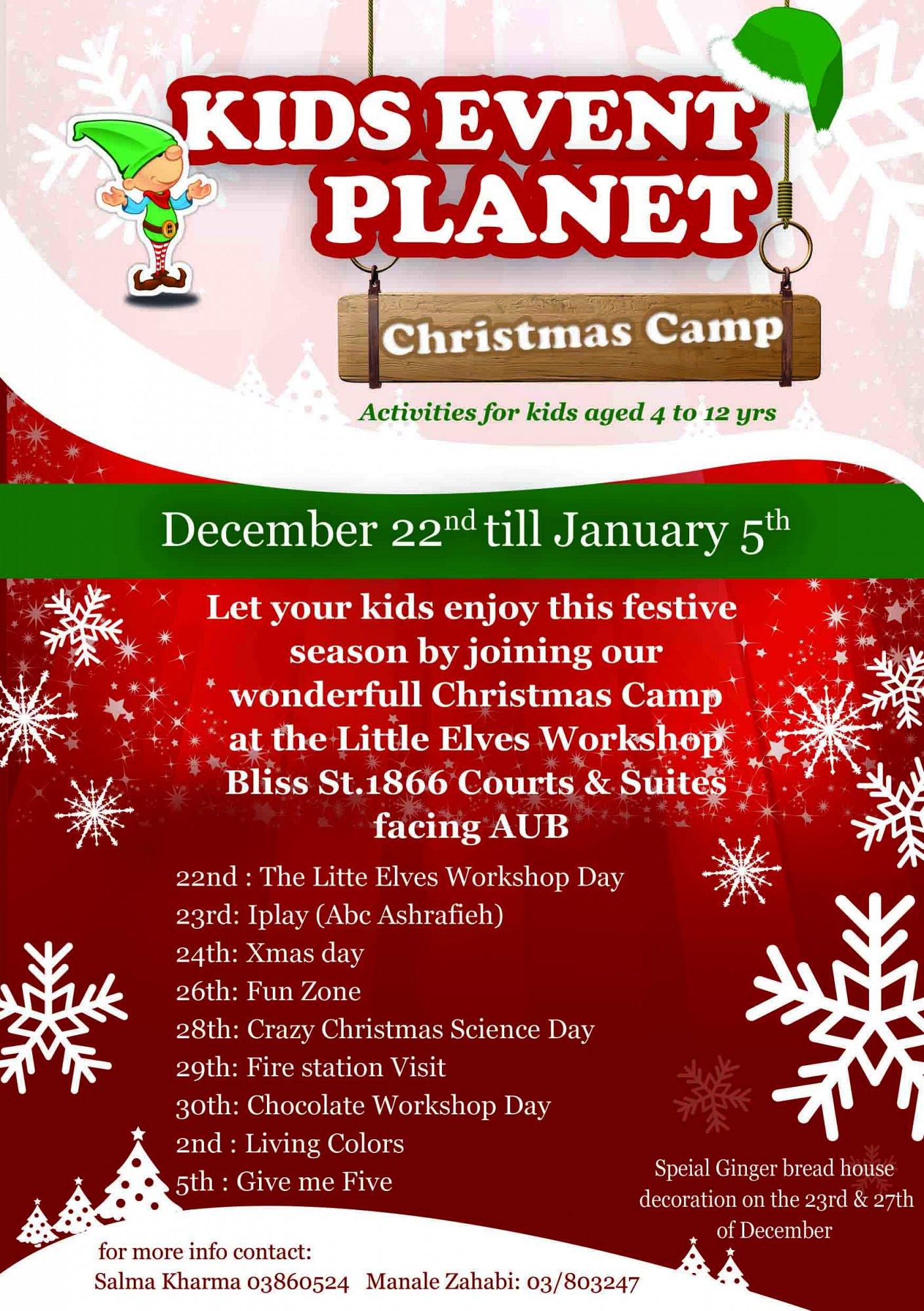 Kids Event Planet Xmas Camp Lebtivity