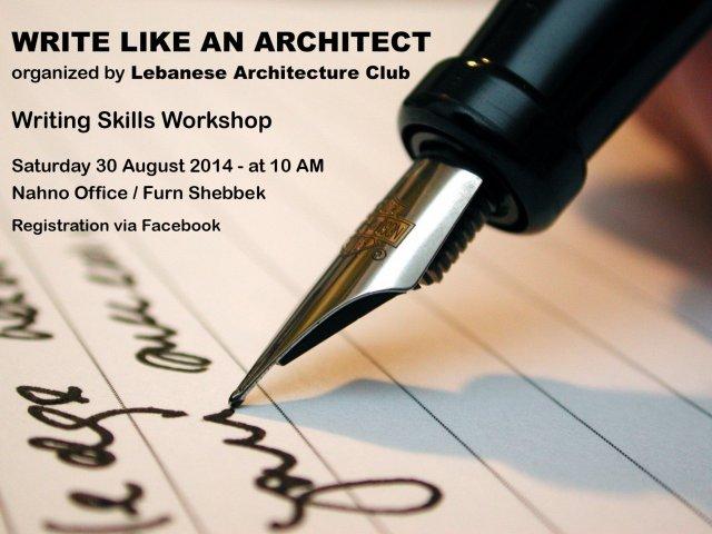 Write like an Architect - Writing Skills Workshop « Lebtivity