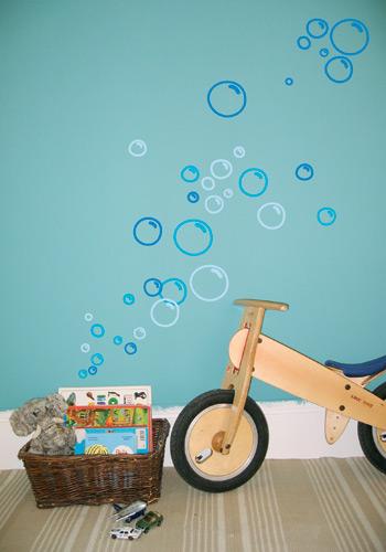 Bubbels aan de muur  Een prachtige kinderkamer