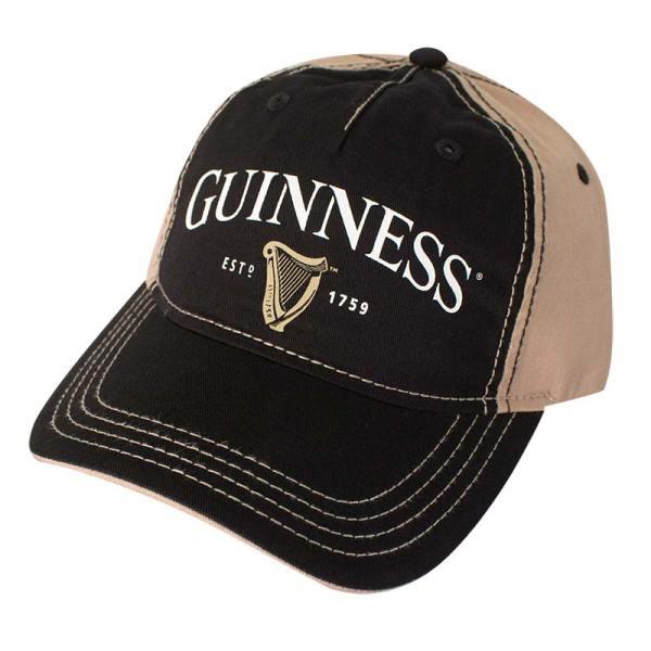 Guinness Black Harp Logo Strap Hat