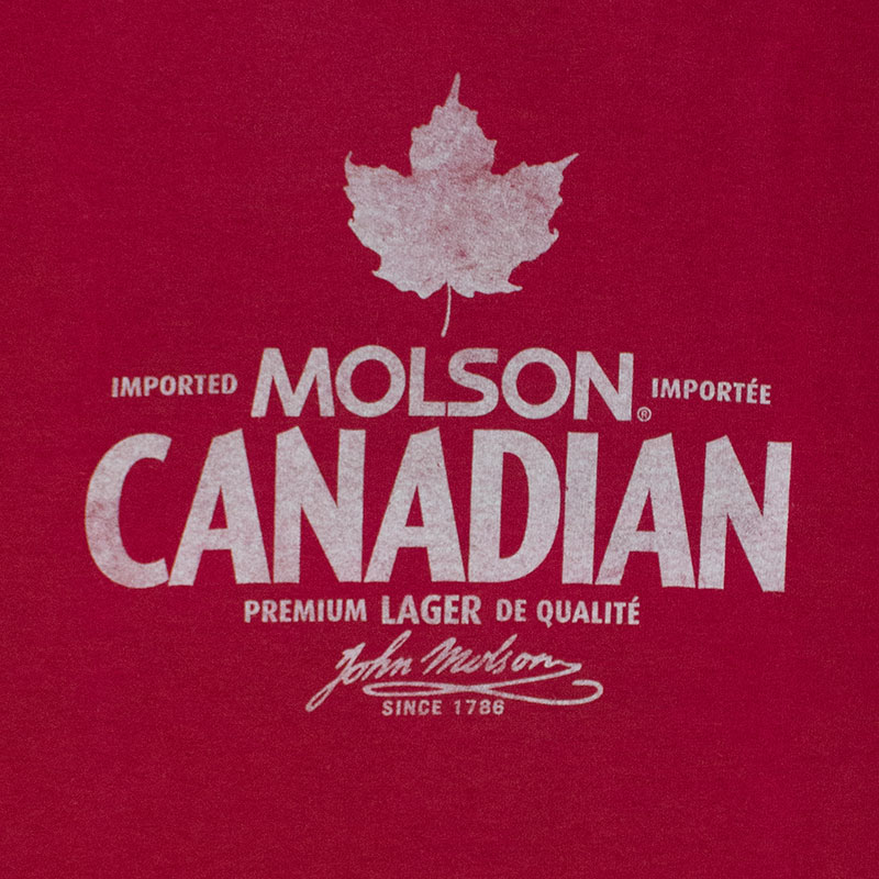 Molson Canadian Mens Red Beer Logo T Shirt