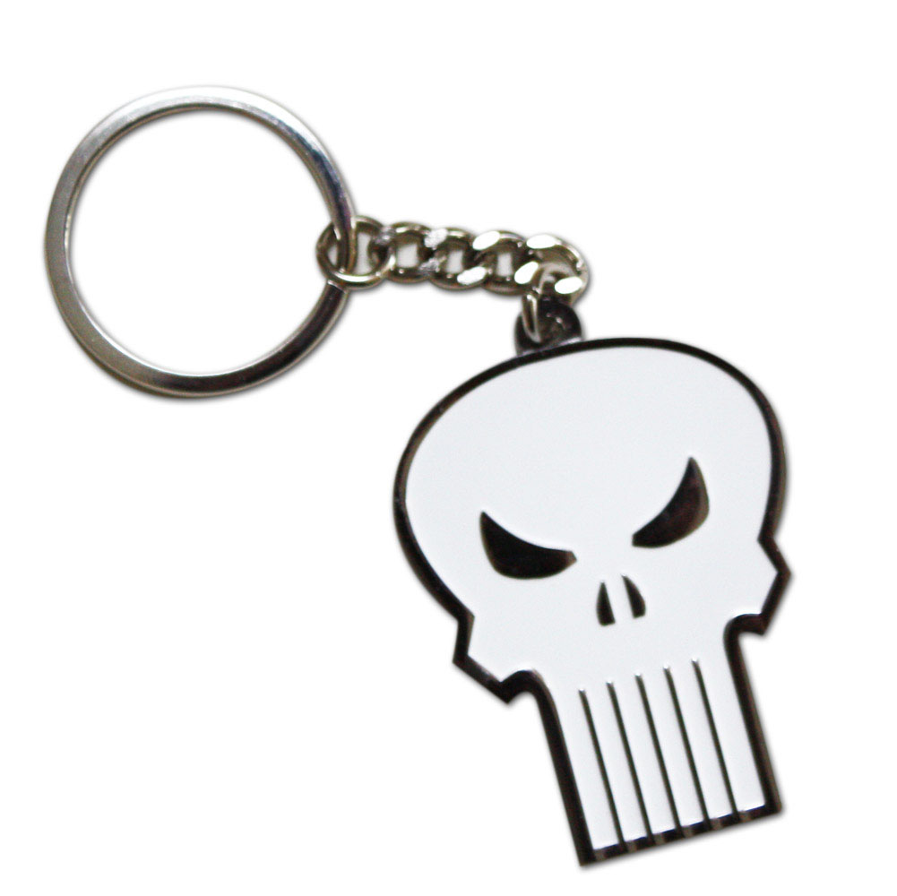 The Punisher Skull Logo Keychain