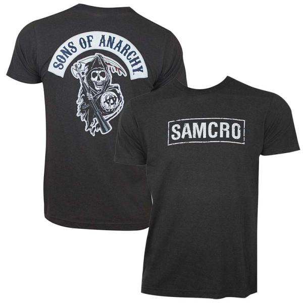 Sons Of Anarchy Men' Charcoal Samcro T-shirt