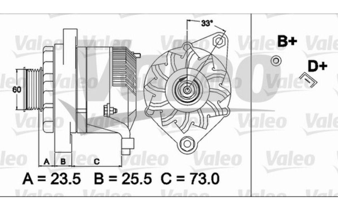 COMPLETE ALTERNATOR Fiat Tipo 1.4,1.4 i.e.,1.6 i.e.,1.6
