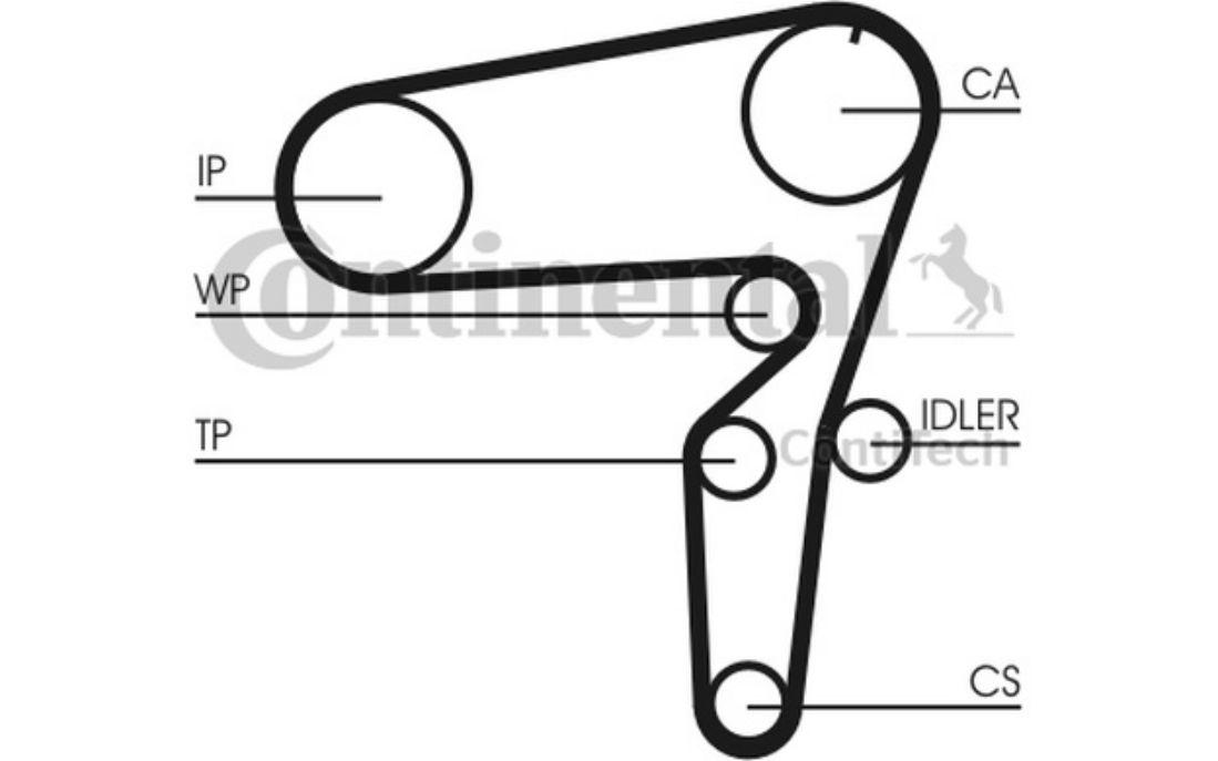 Moteurs, pièces moteurs Courroie d'accessoire pour Alfa