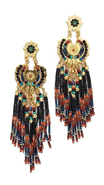 Gas Bijoux Apache Earrings - Black Multi