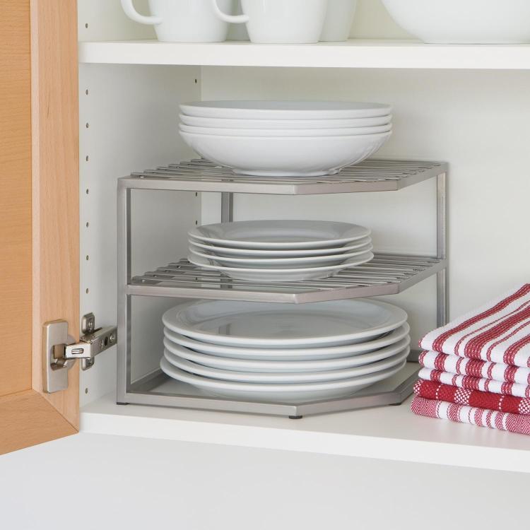 Corner Shelf Counter Cabinet Organizer Platinum Home Kitchen