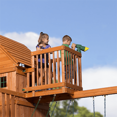 Skyfort II Cedar Wood Playset Swing Set