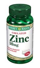 Nature's Bounty Chelated Zinc 50 mg (100 Caplets)