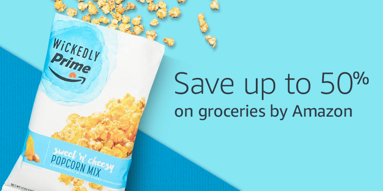 Save up to 50% on groceries by amazon