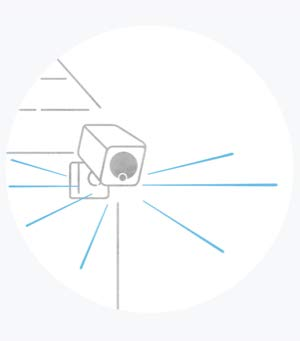 An illustration of a camera that implies the camera saw something.