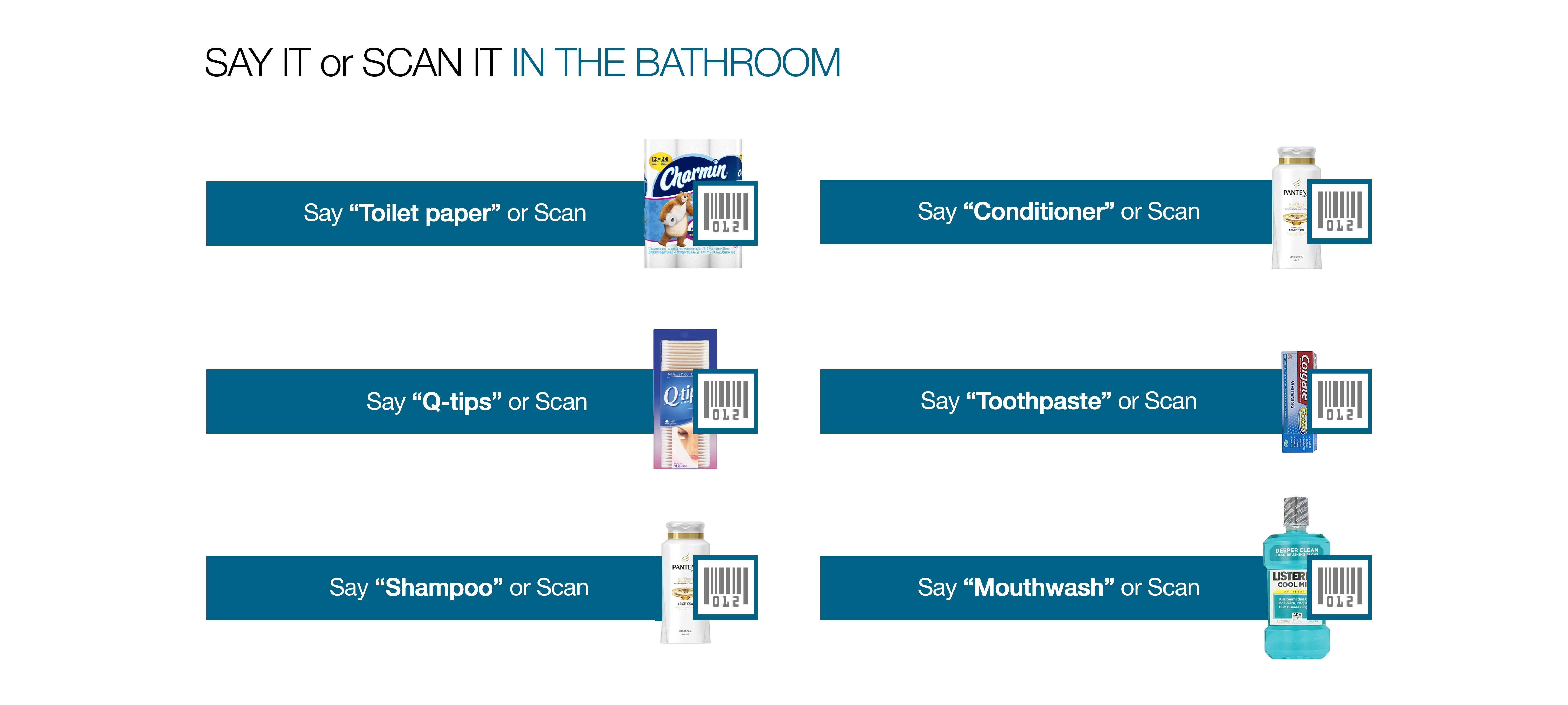 Say it or scan it in your bathroom.