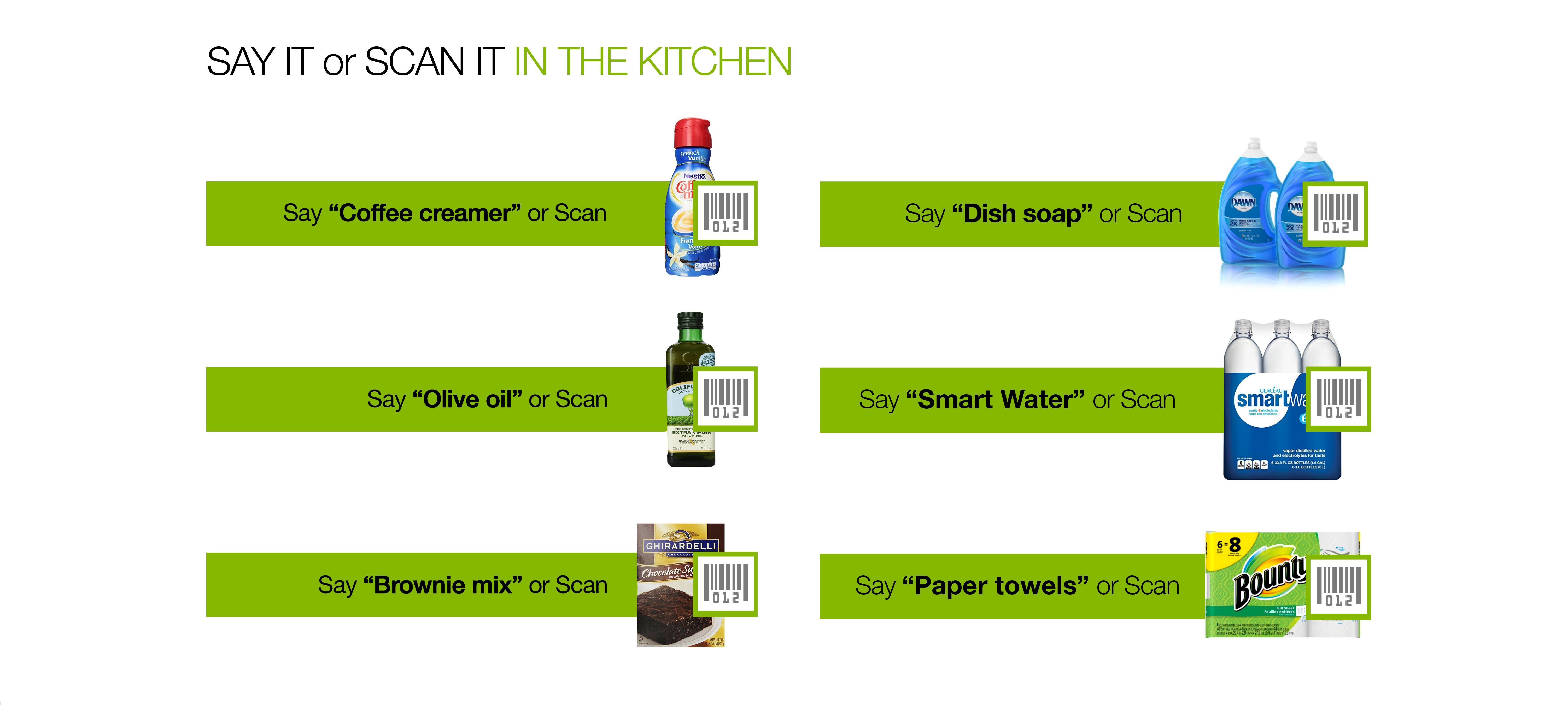 Say it or scan it in your kitchen.