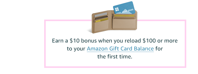 Reload your Gift Card Balance and get a bonus