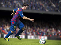 Messi in the open field in FIFA 13