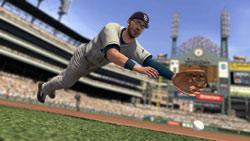 Evan Longoria diving for a ball in MLB 2K10