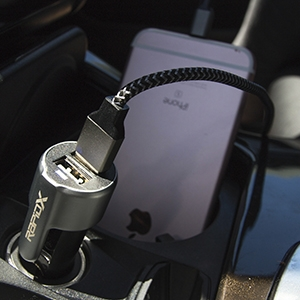 Xscape Dual USB Car Charger with Safety Hammer and Seatbelt Cutter by RapidX 10